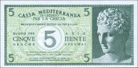 Griechenland - Ital. Besetzung / Greece P.M01 5 Drachmen (1941) (1)