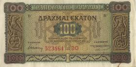 Griechenland / Greece P.116b 100 Drachmen 1941 (3)