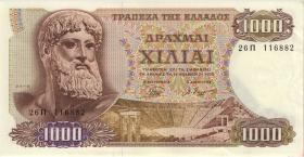 Griechenland / Greece P.198b 1000 Drachmen 1970 (2)