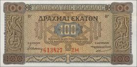 Griechenland / Greece P.116 100 Drachmen 1941 (1)