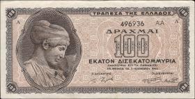 Griechenland / Greece P.135b 100 Mrd. Drachmen 1944 (2)