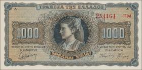 Griechenland / Greece P.118 1000 Drachmen 1942 (1)