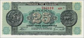 Griechenland / Greece P.130b 25 Mio. Drachmen 1944 (1)