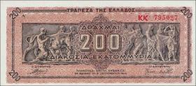 Griechenland / Greece P.131a 200 Mio. Drachmen 1944 (1)