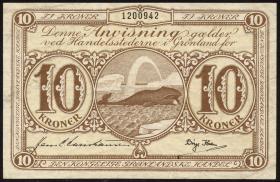 Grönland / Greenland P.19b 10 Kronen (1953-67) (2)