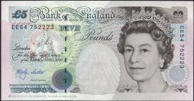 Großbritannien / Great Britain P.382c 5 Pounds 1990 (1999-2002) (1)