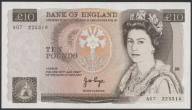 Großbritannien / Great Britain P.379a 10 Pounds (1975-80) (1)
