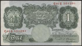 Großbritannien / Great Britain P.369b 1 Pound (1949-55) (1-)
