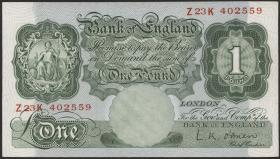 Großbritannien / Great Britain P.369c 1 Pound (1955-60) (1)