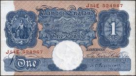 Großbritannien / Great Britain P.367a 1 Pound (1940-48) (2)