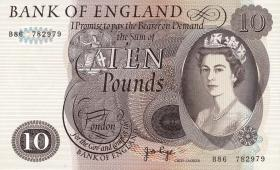 Großbritannien / Great Britain P.376c 10 Pounds (1964-75) (1/1-)