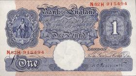 Großbritannien / Great Britain P.367a 1 Pound (1940-48) (1)