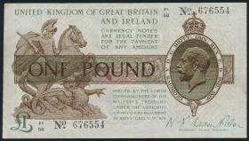 Großbritannien / Great Britain P.359a 1 Pound (1923) (3)