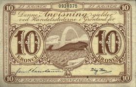 Grönland / Greenland P.19 10 Kronen (1953) (3)