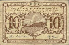 Grönland / Greenland P.19b 10 Kronen (1953-67) (3)