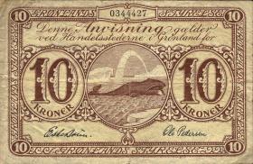 Grönland / Greenland P.16a 10 Kronen (1945) (3)