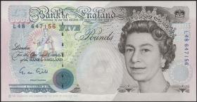 Großbritannien / Great Britain P.382a 5 Pounds (1990-1992) (1)