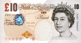 Großbritannien / Great Britain P.389c 10 Pounds 2000 (2004) (1)