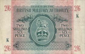 Großbritannien / Great Britain P.M03 2 Shillings / 6 Pence (1943) (2+)
