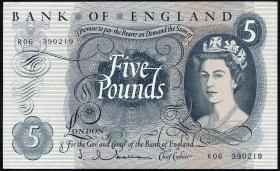 Großbritannien / Great Britain P.375a 5 Pounds (1963-71) (1/1-)