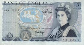 Großbritannien / Great Britain P.378a 5 Pounds (1971-91) (1)
