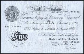 Großbritannien / Great Britain P.344 5 Pounds 1952 (2)