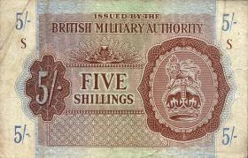 Großbritannien / Great Britain P.M04 5 Shillings (1943) (3)