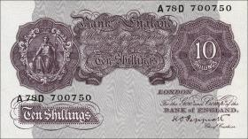 Großbritannien / Great Britain P.366a 10 Shillings (1940-48) (1)