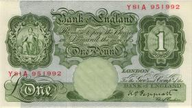 Großbritannien / Great Britain P.369a 1 Pound (1948-60) (1/1-)
