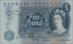 Großbritannien / Great Britain P.375c 5 Pounds (1963-71) (1)
