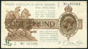 Großbritannien / Great Britain P.362a 1 Pound (1928) X (3)