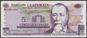 Guatemala P.060b 5 Quetzales 1974 (1)