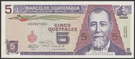 Guatemala P.074b 5 Quetzales 1991 (1)