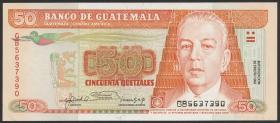 Guatemala P.077c 50 Quetzales 1992 (1/1-)