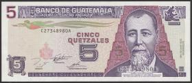 Guatemala P.088b 5 Quetzales 1995 (1)
