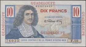 Guadeloupe, Frz. Verw. P.32 10 Francs (1947-49) (1)