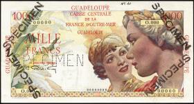 Guadeloupe, Frz. Verw. P.37s 1000 Francs (1947-49) Specimen
