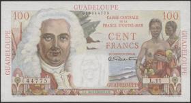 Guadeloupe, Frz. Verw. P.35 100 Francs (1947-49) (1/1-)