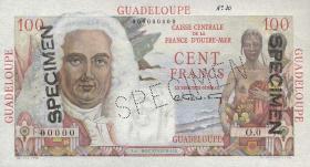 Guadeloupe, Frz. Verw. P.35s 100 Francs (1947-49) Specimen