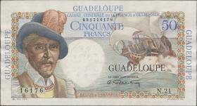 Guadeloupe, Frz. Verw. P.34 50 Francs (1947-49) (2)