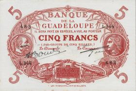 Guadeloupe, Frz. Verw. P.07e 5 Francs (1945) (1)