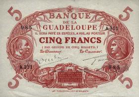 Guadeloupe, Frz. Verw. P.07e 5 Francs (1945) (2)
