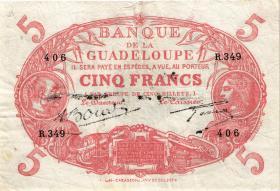 Guadeloupe, Frz. Verw. P.07e 5 Francs (1945) (3)