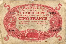 Guadeloupe, Frz. Verw. P.07e 5 Francs (1945) (4)
