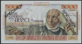Guadeloupe, Frz. Verw. P.38s 5000 Francs (1952) Specimen (1)