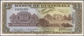 Guatemala P.051i 1/2 Quetzal 1972 (3+)