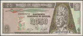 Guatemala P.072a 1/2 Quetzal 1989 (1)