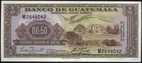 Guatemala P.041b 1/2 Quetzal 1960 (1)