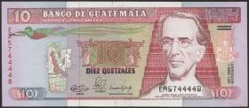 Guatemala P.075b 10 Quetzales 1990 (1)