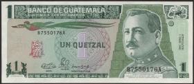 Guatemala P.073a 1 Quetzal 1990 (1)